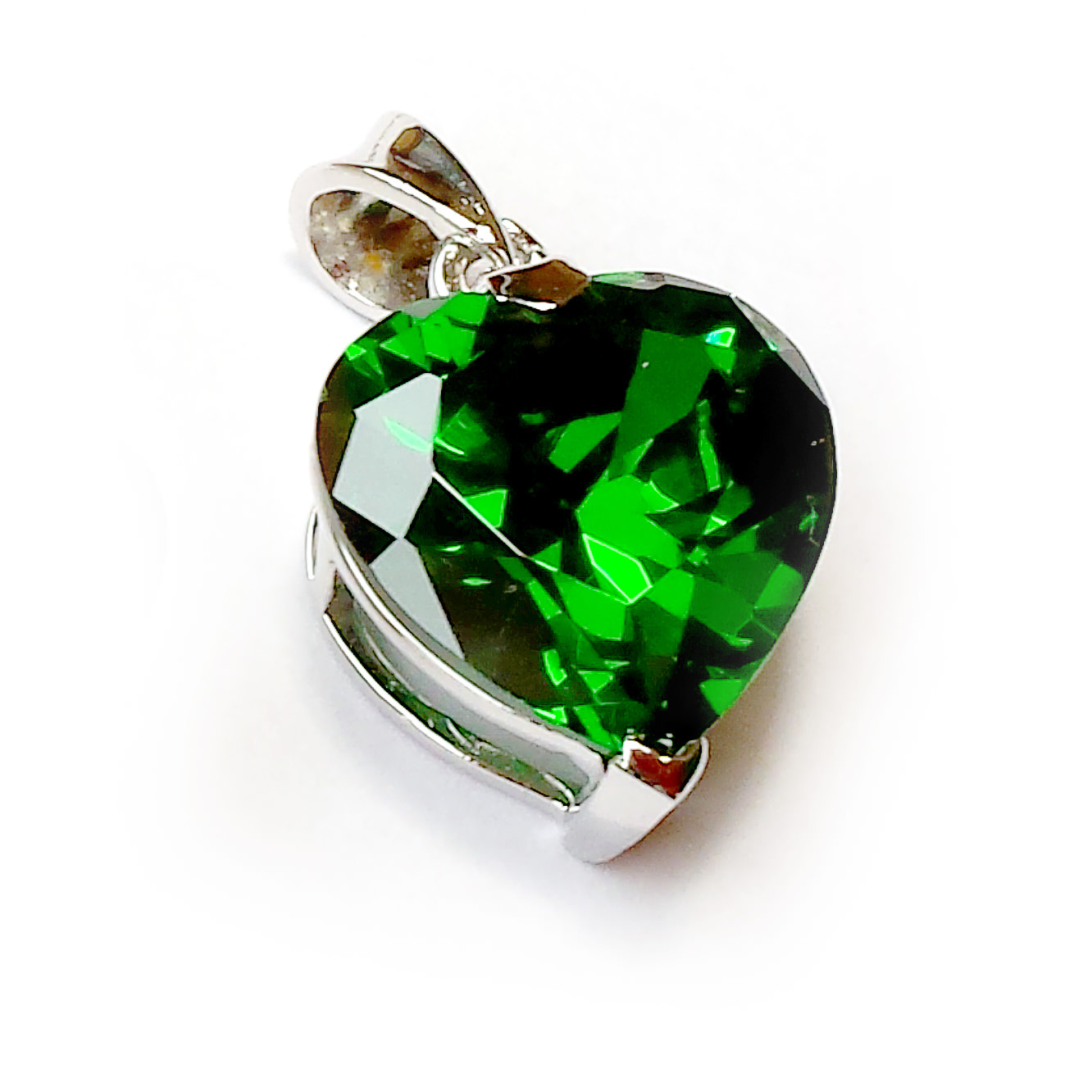 Emerald heart pendant darshan with david ashworth the english guru aloadofball Images